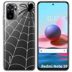 Funda Gel Transparente para Xiaomi Redmi Note 10 / 10S diseño Araña Dibujos