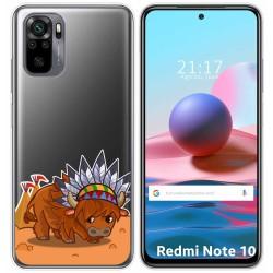 Funda Gel Transparente para Xiaomi Redmi Note 10 / 10S diseño Bufalo Dibujos