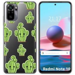 Funda Gel Transparente para Xiaomi Redmi Note 10 / 10S diseño Cactus Dibujos