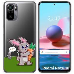 Funda Gel Transparente para Xiaomi Redmi Note 10 / 10S diseño Conejo Dibujos