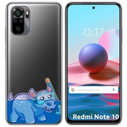 Funda Gel Transparente para Xiaomi Redmi Note 10 / 10S diseño Hipo Dibujos