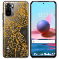 Funda Gel Transparente para Xiaomi Redmi Note 10 / 10S diseño Hojas Dibujos
