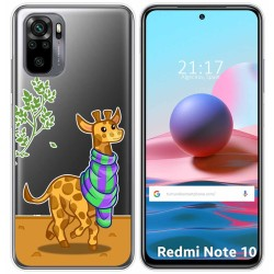 Funda Gel Transparente para Xiaomi Redmi Note 10 / 10S diseño Jirafa Dibujos