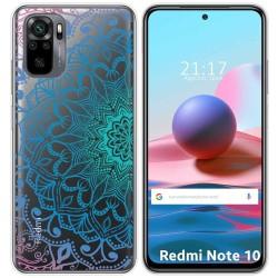 Funda Gel Transparente para Xiaomi Redmi Note 10 / 10S diseño Mandala Dibujos