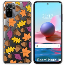 Funda Gel Transparente para Xiaomi Redmi Note 10 / 10S diseño Otoño Dibujos