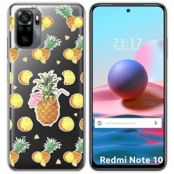 Funda Gel Transparente para Xiaomi Redmi Note 10 / 10S diseño Piña Dibujos