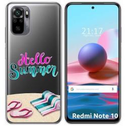 Funda Gel Transparente para Xiaomi Redmi Note 10 / 10S diseño Summer Dibujos