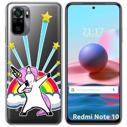 Funda Gel Transparente para Xiaomi Redmi Note 10 / 10S diseño Unicornio Dibujos