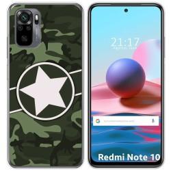 Funda Gel Tpu para Xiaomi Redmi Note 10 / 10S diseño Camuflaje 01 Dibujos