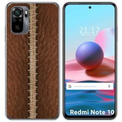 Funda Gel Tpu para Xiaomi Redmi Note 10 / 10S diseño Cuero 01 Dibujos