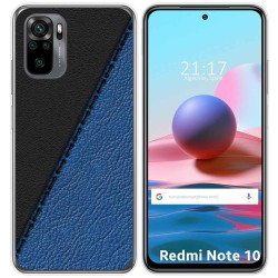 Funda Gel Tpu para Xiaomi Redmi Note 10 / 10S diseño Cuero 02 Dibujos