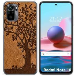 Funda Gel Tpu para Xiaomi Redmi Note 10 / 10S diseño Cuero 03 Dibujos