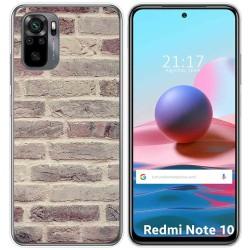 Funda Gel Tpu para Xiaomi Redmi Note 10 / 10S diseño Ladrillo 01 Dibujos