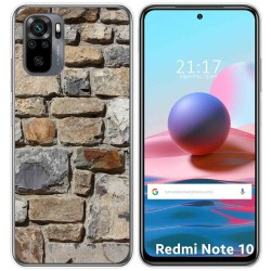 Funda Gel Tpu para Xiaomi Redmi Note 10 / 10S diseño Ladrillo 03 Dibujos