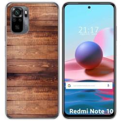 Funda Gel Tpu para Xiaomi Redmi Note 10 / 10S diseño Madera 02 Dibujos