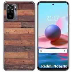 Funda Gel Tpu para Xiaomi Redmi Note 10 / 10S diseño Madera 03 Dibujos