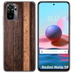 Funda Gel Tpu para Xiaomi Redmi Note 10 / 10S diseño Madera 05 Dibujos