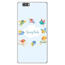 Funda Gel Tpu para Elephone M2 Diseño Spring Birds Dibujos