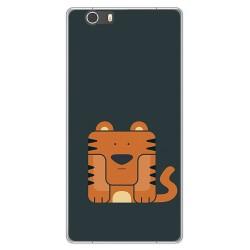 Funda Gel Tpu para Elephone M2 Diseño Tigre Dibujos