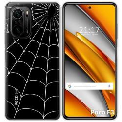 Funda Gel Transparente para Xiaomi Poco F3 diseño Araña Dibujos