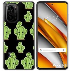 Funda Gel Transparente para Xiaomi Poco F3 diseño Cactus Dibujos
