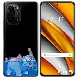 Funda Gel Transparente para Xiaomi Poco F3 diseño Hipo Dibujos