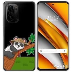 Funda Gel Transparente para Xiaomi Poco F3 diseño Panda Dibujos
