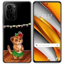 Funda Gel Transparente para Xiaomi Poco F3 diseño Suricata Dibujos