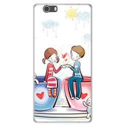 Funda Gel Tpu para Lg X Power 2 Diseño Cafe Dibujos