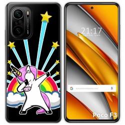 Funda Gel Transparente para Xiaomi Poco F3 diseño Unicornio Dibujos