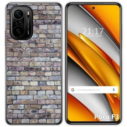 Funda Gel Tpu para Xiaomi Poco F3 diseño Ladrillo 02 Dibujos