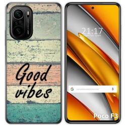 Funda Gel Tpu para Xiaomi Poco F3 diseño Madera 01 Dibujos