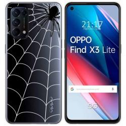 Funda Gel Transparente para Oppo Find X3 Lite diseño Araña Dibujos