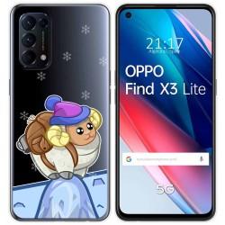 Funda Gel Transparente para Oppo Find X3 Lite diseño Cabra Dibujos