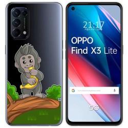 Funda Gel Transparente para Oppo Find X3 Lite diseño Mono Dibujos