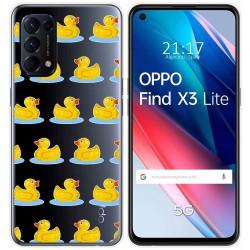 Funda Gel Transparente para Oppo Find X3 Lite diseño Pato Dibujos
