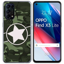 Funda Gel Tpu para Oppo Find X3 Lite diseño Camuflaje 01 Dibujos