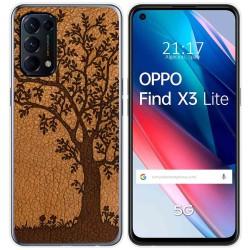 Funda Gel Tpu para Oppo Find X3 Lite diseño Cuero 03 Dibujos