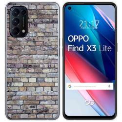 Funda Gel Tpu para Oppo Find X3 Lite diseño Ladrillo 02 Dibujos