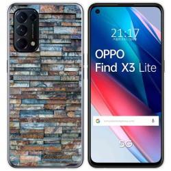 Funda Gel Tpu para Oppo Find X3 Lite diseño Ladrillo 05 Dibujos