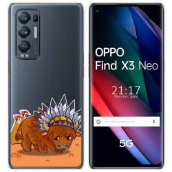 Funda Gel Transparente para Oppo Find X3 Neo diseño Bufalo Dibujos