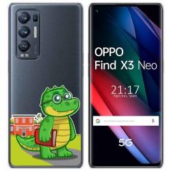 Funda Gel Transparente para Oppo Find X3 Neo diseño Coco Dibujos