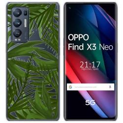 Funda Gel Transparente para Oppo Find X3 Neo diseño Jungla Dibujos