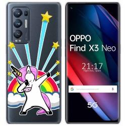 Funda Gel Transparente para Oppo Find X3 Neo diseño Unicornio Dibujos
