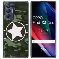 Funda Gel Tpu para Oppo Find X3 Neo diseño Camuflaje 01 Dibujos