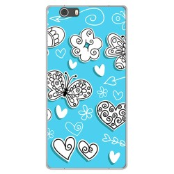 Funda Gel Tpu para Lg X Power 2 Diseño Mariposas Dibujos