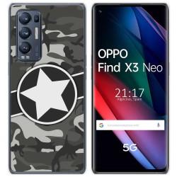 Funda Gel Tpu para Oppo Find X3 Neo diseño Camuflaje 02 Dibujos