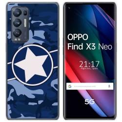 Funda Gel Tpu para Oppo Find X3 Neo diseño Camuflaje 03 Dibujos
