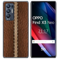 Funda Gel Tpu para Oppo Find X3 Neo diseño Cuero 01 Dibujos