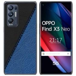 Funda Gel Tpu para Oppo Find X3 Neo diseño Cuero 02 Dibujos